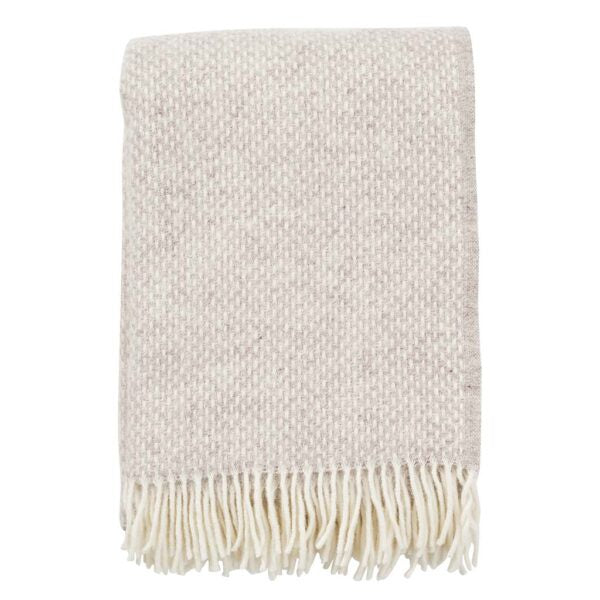 Throw 100% Lambs Wool - Preppy Beige Melange