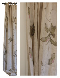 Fig Leaf 100% Linen Voile Curtain