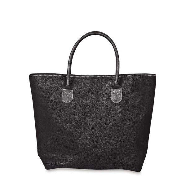 Angola Shopping Bag w/Black Handles