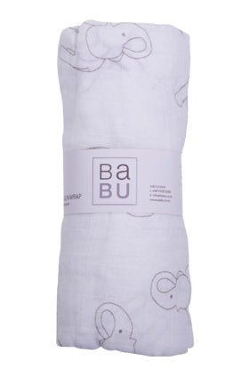 Muslin Wrap Elephant Grey