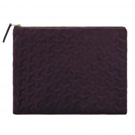 Velvet Wash Bag Aubergine
