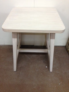 Wooden Side Table Whitewash 45.5x46x54cm FD1247
