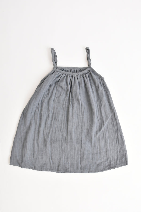 Girl's Muslin Dress Grey