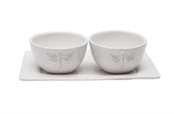 White Dragonfly Condiment Set