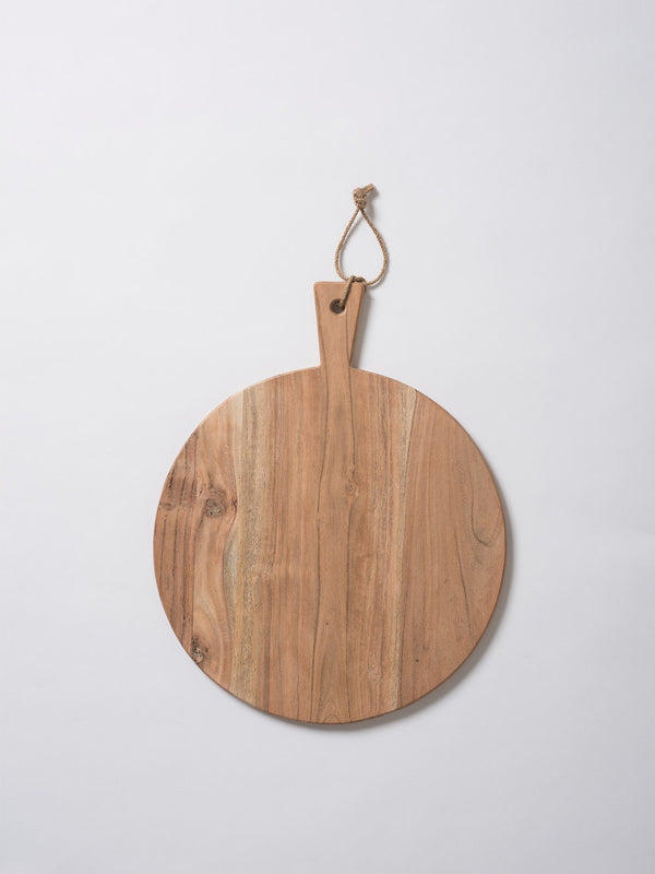 Acacia Round Chopping Board Natural S