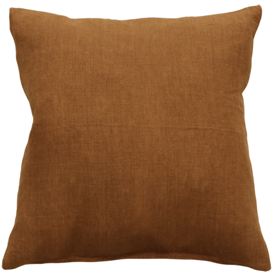 Indira Cushion with Feather Inner - Tobacco