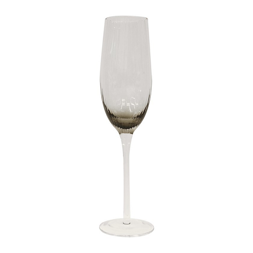 Smoked  Champagne Glass Set/4