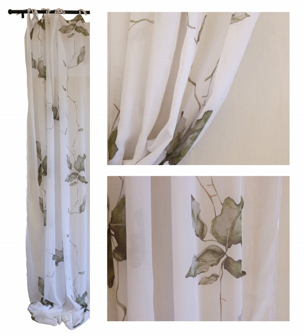 Fig Leaf Cotton Voile Curtain