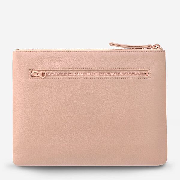 Fake It Clutch - Dusty Pink