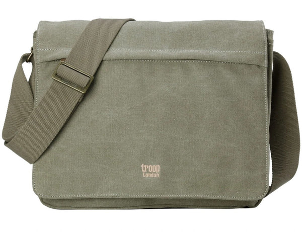 Classic Flap Front Messenger Bag - Khaki