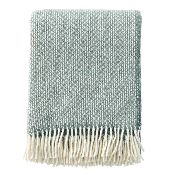 Throw 100% Lambs Wool - Dusty Green