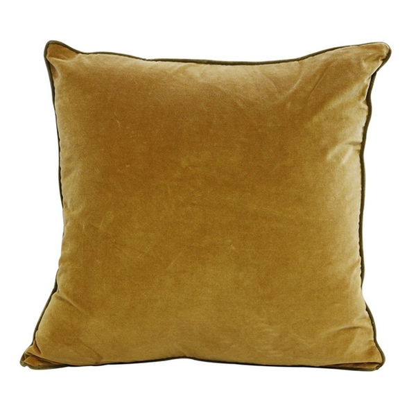 Gold & Olive Velvet Cushion Cover 50cm