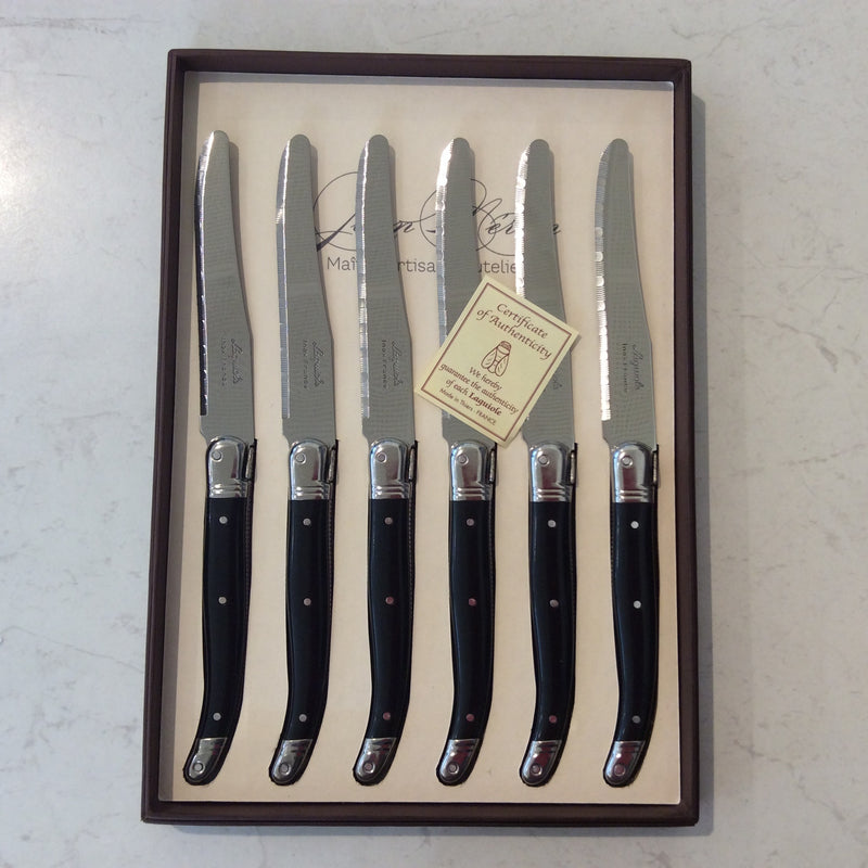 Laguoile Round Table Knives Set/6 Black