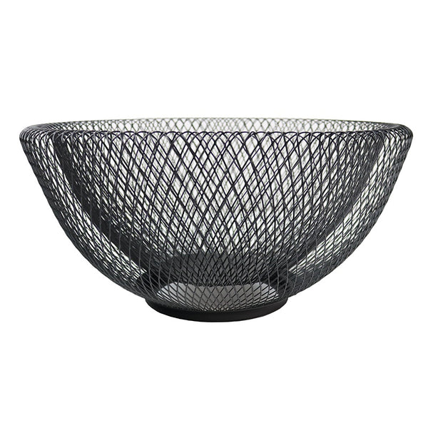 Iron Mesh Bowl Black 35cm