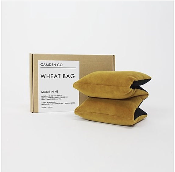 Wheat Bag - Mustard Velvet