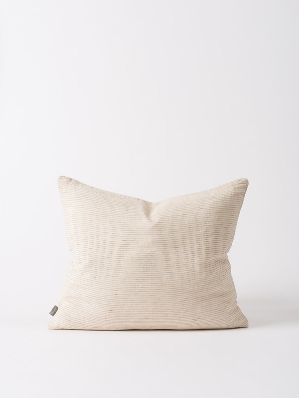 Linea Woven Cushion Cover Natural/Chestnut 55x45cm
