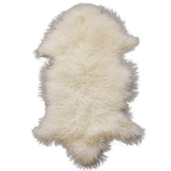 Meru Tibetan Lamb Skin - Natural White