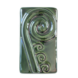 Single Koru Tile In Flax Green