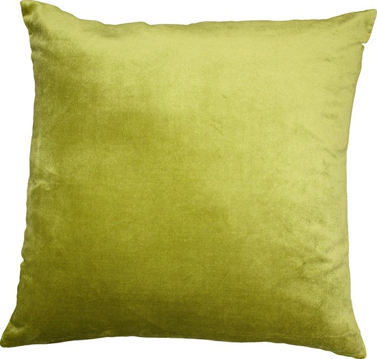 Majestic Velvet/Linen Cushion - Cactus Green