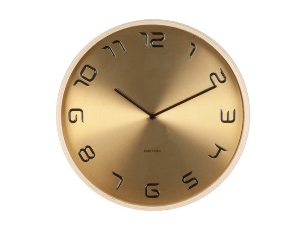 Karlsson Bent Wall Clock Wood Gold