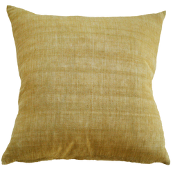 Indira Cushion with Feather Inner - Ochre 55cm