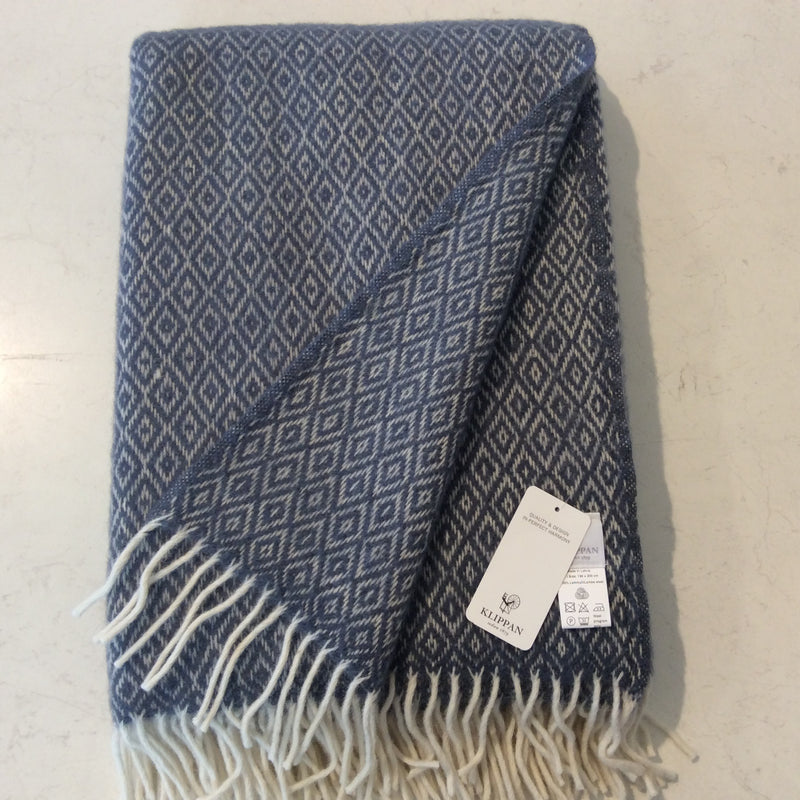 Throw 100% Lambs Wool - Stella Smokey Blue