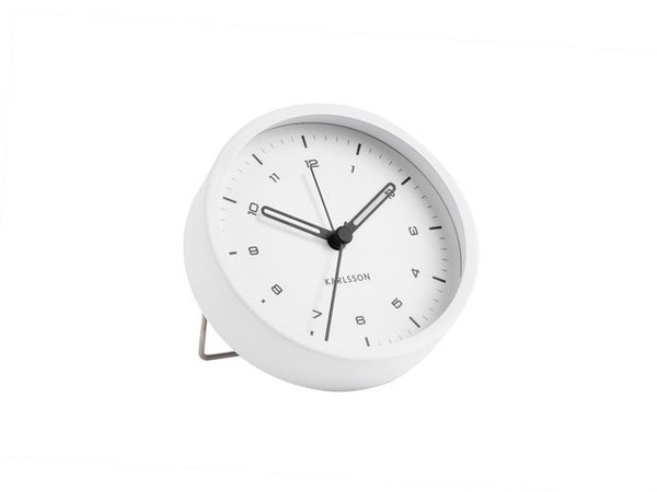 Karlsson Alarm Clock Tinge White