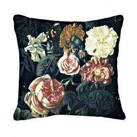 Blooming Blush Square Cushion