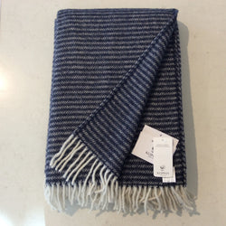 Throw 100% Lambs Wool - Ralph Navy