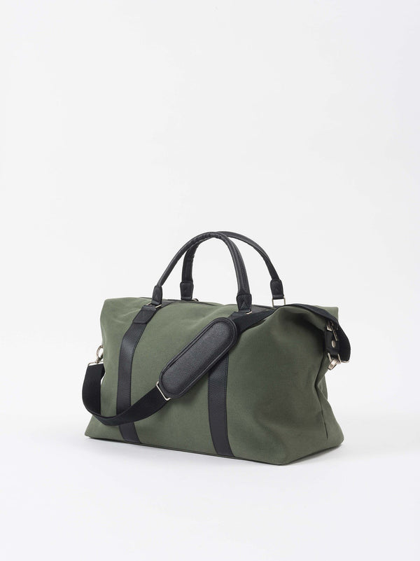 Canvas Weekender Bag Olive