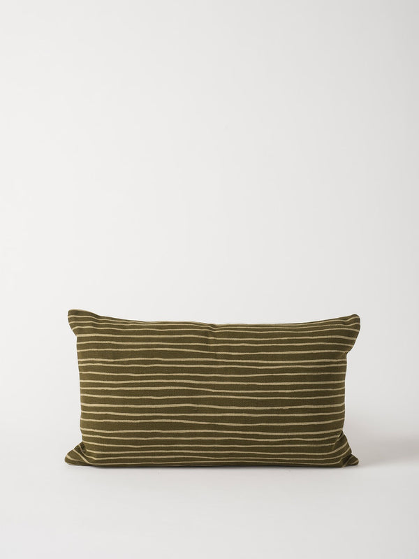 Aerial Cushion Cover Seaweed/Olive 60x35cm