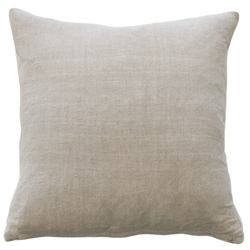Indira Cushion with Feather Inner - Natural