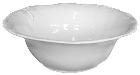 Large White Dragonfly Salad Bowl