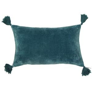 Boudoir Green Tassled Cushion 30x50cm