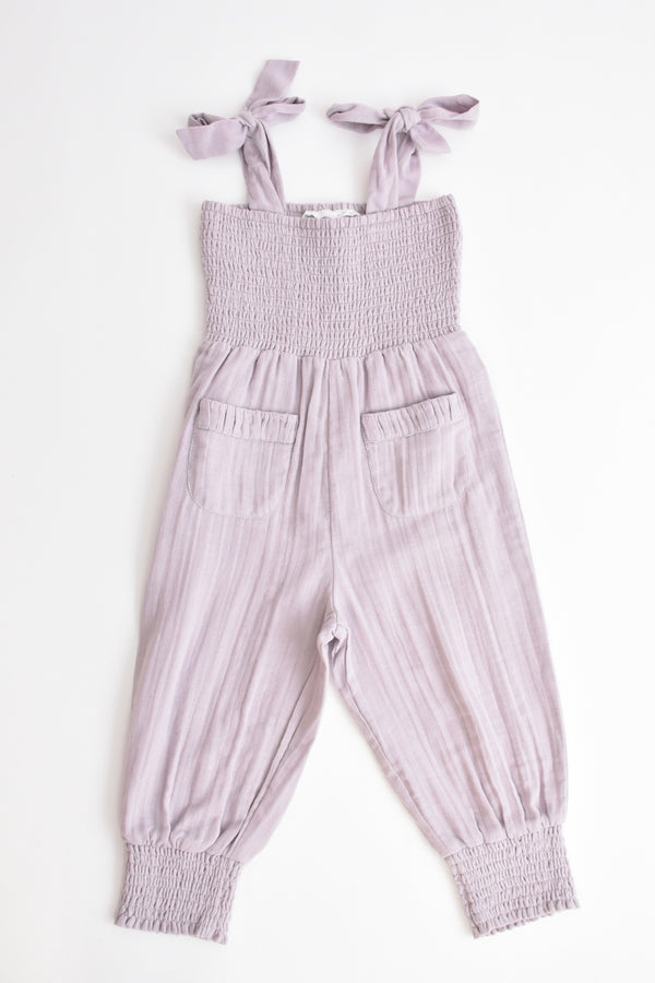 Girls Muslin Jumpsuit Lilac