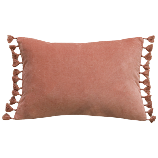 Este Cushion with Feather Inner -  Muted Coral