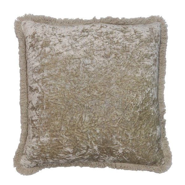 Grace Velvet Cushion - Vintage Latte