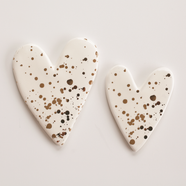 Splatter Hearts Wall Art