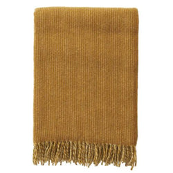 Throw 100% Lambs Wool - Shimmer Mustard