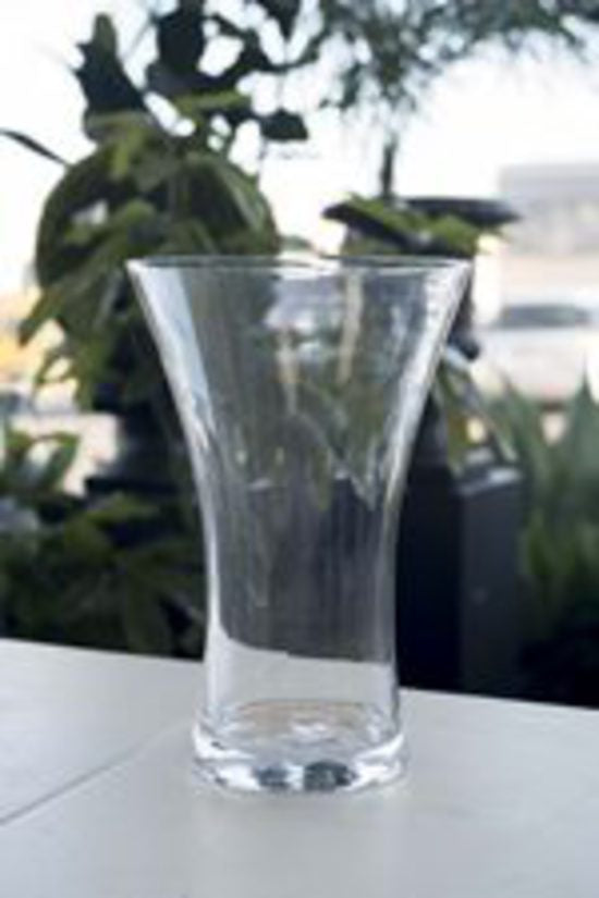 Glass Cylinder Vase Fluted Top