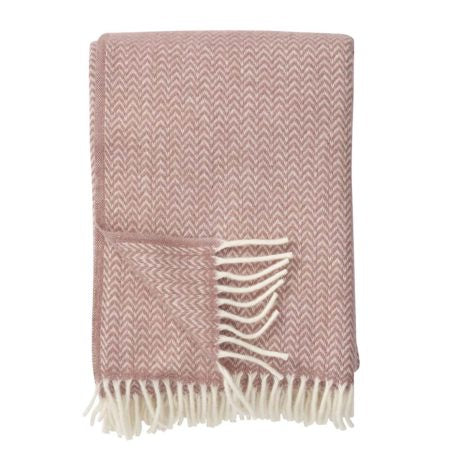 Throw 100% Lambs Wool - Chevron Nude