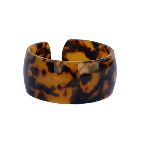 Tortoise Shell Style Wide Cuff