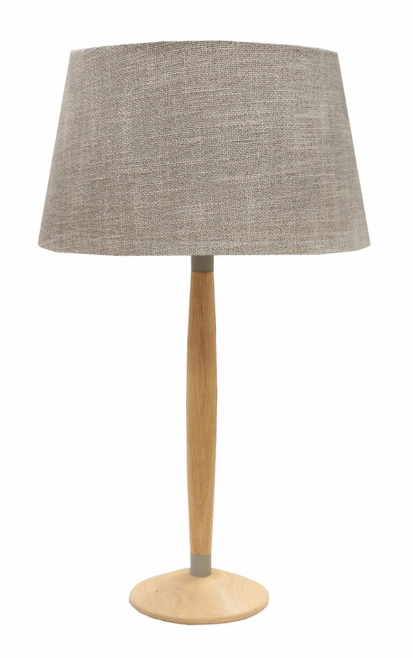 Natural Wood Table Lamp & Shade