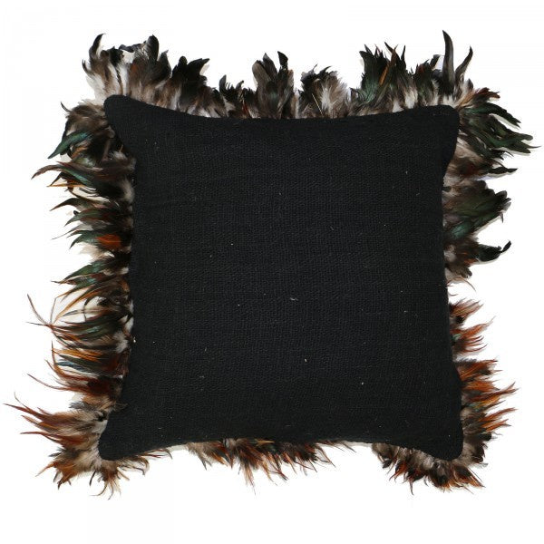 Feather Cushion Black