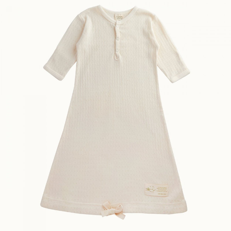 Pointelle Sleeping Gown Natural 0-3M