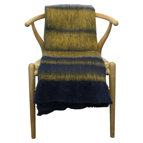 Blue/Mustard Throw Multi 130cmx170cm