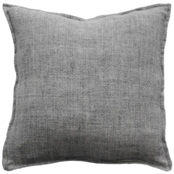 Flaxmill Cushion - Charcoal 50cm