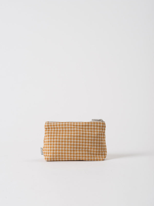 Gingham Utility Bag Pumpkin/Dijon