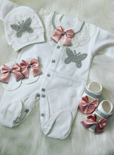 Princess Butterfly baby grow set without shoes