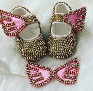 Angel Shoes in Gold and Pink